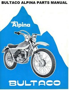 bultaco cemoto alpina parts diagram manual 100pg for motorcycle Hodaka Wiring Schematic image is loading bultaco cemoto alpina parts diagram manual 100pg for