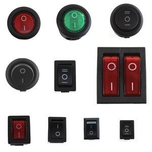 5x-Wippschalter-12V-24V-230V-rund-eckig-KFZ-Ein-Aus-Wippenschalter-klein-Snap-In