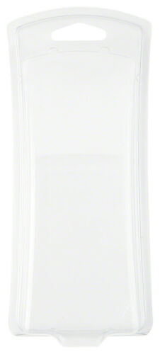 """6.75/"""" H x 2.56/"""" 2.81/"""" W x 1.63/"""" D Clear Clamshell Package 50-Pack Curved"""