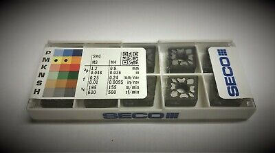 Seco 432  MF4 CNMG120408MF4 TM4000 Carbide Inserts The listing is for 1 box