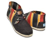 Men's Toms Desert Botas Eci Stripe Casual Shoe Boots W52 Sr