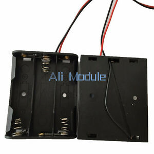 2pcs Plastic Battery Storage Case Box Holder For 3 X AA 3xAA with wire leads