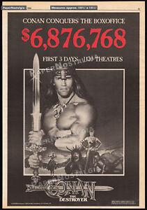 CONAN THE DESTROYER__Original 1984 Trade AD promo_poster__ARNOLD SCHWARZENEGGER