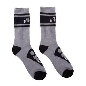 WELCOME-Calcetines-Para-Skate-Gris-Saberskull-Skate-calcetines