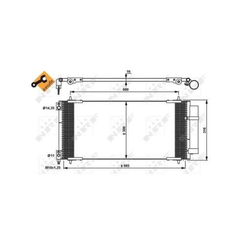 Genuine NRF A//C Air Con Condenser 35905