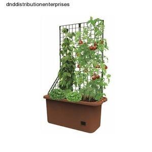 Mobile Vegetable Garden Planter Box Self Watering Trellis Herbs Box