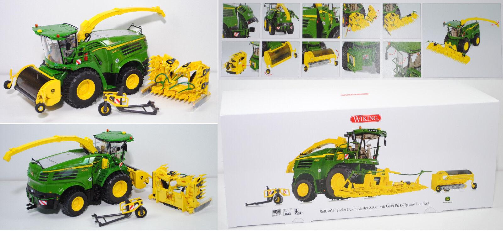 Wiking 077832 John Deere 8500i cosechadora con Kemper Kemper Kemper maisgebiss y pick-up, 1 3657a9