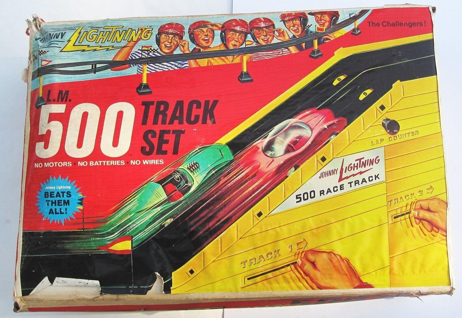 1969 Décoration de Gâteaux Johnny Lightning Course 500 Jeu Set de Rail rougeline
