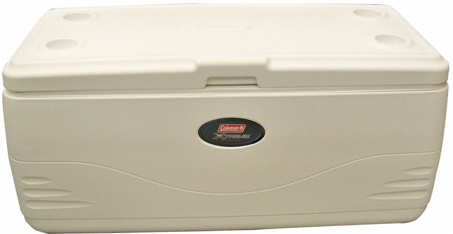Cooler Ice Storing Unit 150 Quart 5 Day Ice Retention Drain Valve Antimicrobial