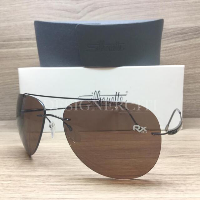 f0d34033e1f Silhouette Titan Adventurer 8667 40 6204 Sunglasses Silky Matte Brown  Authentic