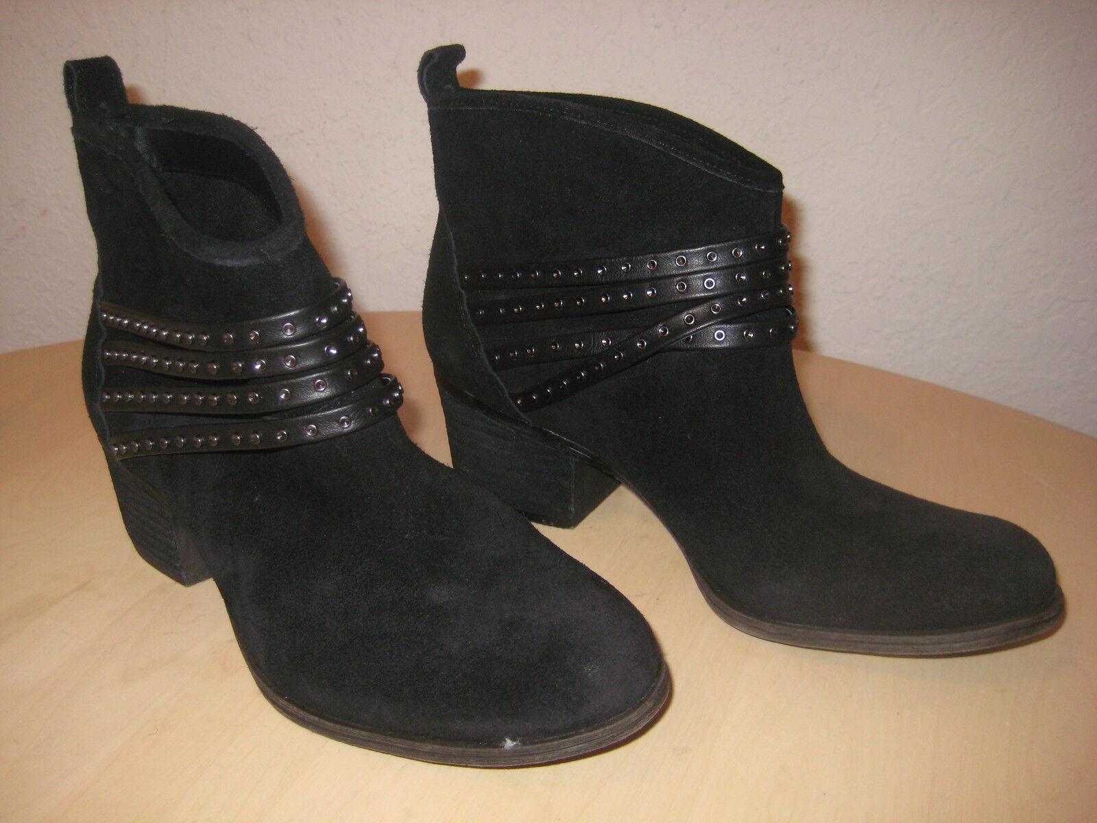 Jessica Simpson Zapatos M nuevo Clauds Negro Cuero Para Mujer botas al Tobillo Nuevos Sin Caja