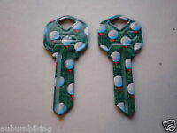 Kw1 Kwikset Key Blanks / Two Painted Golf / Free Shipping