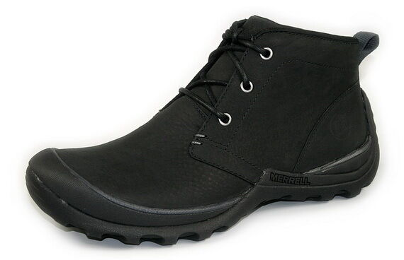 Zapatos especiales con descuento MERRELL 'Argil Mid' Men's Black Leather Ankle Boots