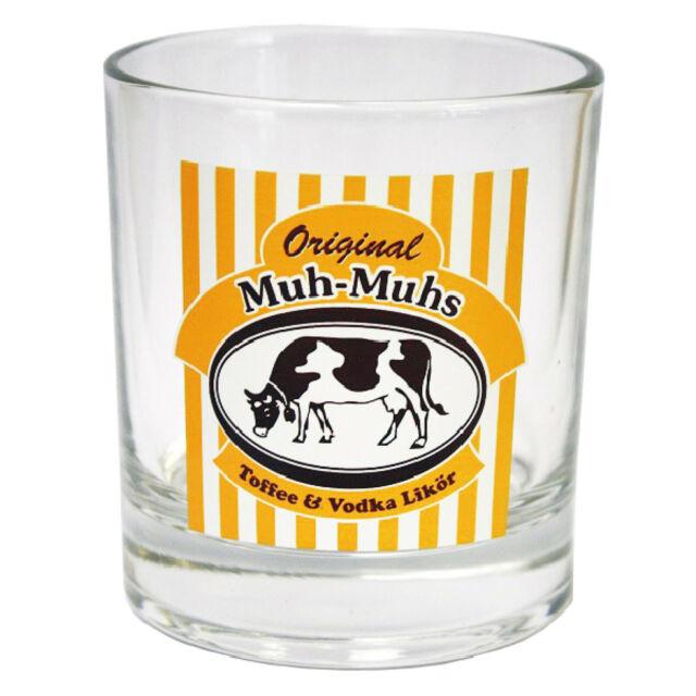 Original Muh-Muhs Toffee & Vodka Likör Glas klar Becherglas 200 ml