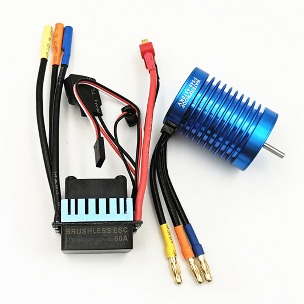 1Set for RC auto Boat Waterproof 9T 4370KV F540 3650 Brushless Motor&60A ESC Kit