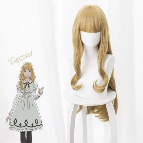 Carole /& Tuesday Cosplay Full Wig Long Hair Wigs Light Brown Yellow Women/'s Wig