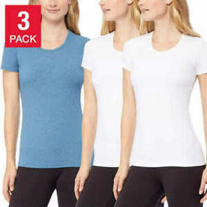 White X-Large 32Degrees Womens Scoop Neck