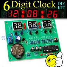 6 Digit Digital LED Electronic Clock DIY Kit Parts Components 9V-12V AT89C2051