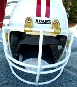 Vintage Orginal Football Chin Strap Cloth 2 Point Adams Made In Usa