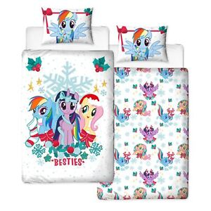 My-Little-Pony-Noel-Houx-Set-Housse-de-Couette-Simple-Filles-2-IN-1-Design