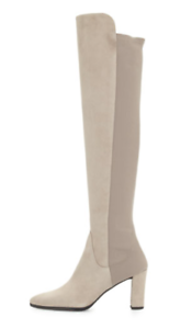Stuart Weitzman Fiftymimi Over The Knee Fossil Otter Suede 5050 Boots 8.5 NEW