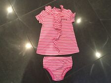 Juicy Couture New & Gen. Baby Girls Striped Dress & Pants 6/12 MTHS & Juicy Logo