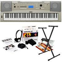 Yamaha YPG235 76-Key Portable Keyboard Home Essentials Bundle