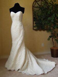 75e69854c490 Ivory OLEG CASSINI CRL277 Wedding Dress | David's Bridal | Cleaned ...