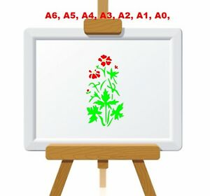 Wild-Cransbill-Geranium-Flower-Stencil-350-micron-Mylar-not-thin-stuff-FL027