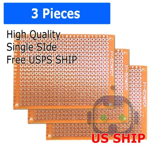 1//2//3//5//10 pcs Single Sided PCB Proto Perf Board Bakelite FR 5*7 5x7 cm USA Ship