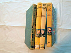 Vintage-4-Tom-Swift-Picture-Cover-Books-Lot