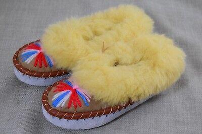 UK12/EU31 7.5 in (approx. 19.05 cm)/19 cm de longitud de Piel de Oveja Niños Zapatillas Mocasines