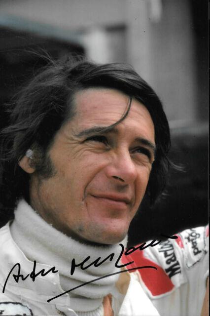 Arturo Merzario firmato ISO-Williams Ritratto 1974