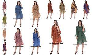 50-PC-Wholesale-Lot-Indian-Robes-Silk-Wraps-Dress-Women-039-s-Bathrobe-Evening-Gown