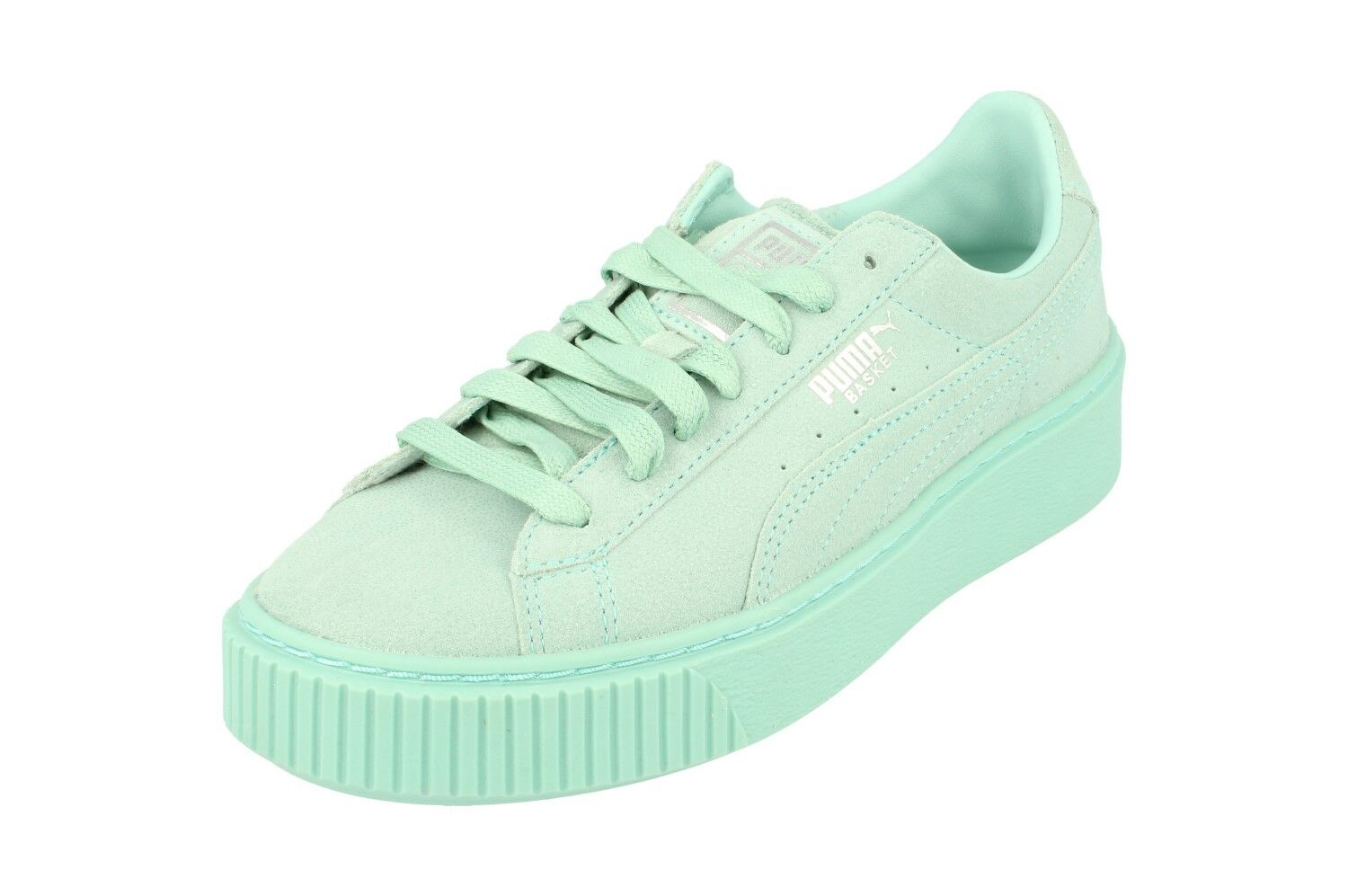 Puma Basket Platform Reset Womens Trainers 363313 Sneakers shoes 03