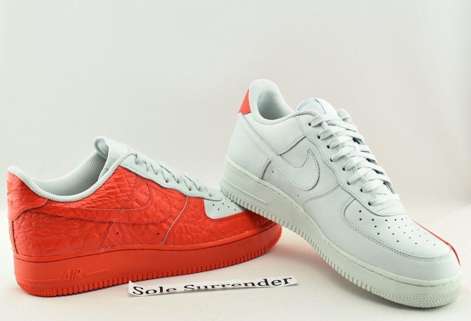Nike Air Force 1 '07 PRM - CHOOSE SIZE - 905345-005 Grey Red White Split Premium