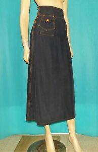 JEAN PAUL GAULTIER jupe longue en coton noir taille 36 fr