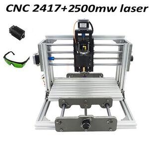 Details about Mini CNC router & Laser 2500mw 2 in 1 desktop engraving  machine 240*170*65mm