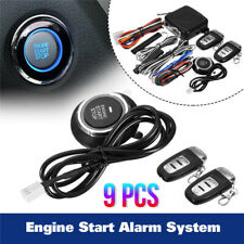 Car Alarm Start Security System Key Passive Keyless Entry Push Button Remote Kit