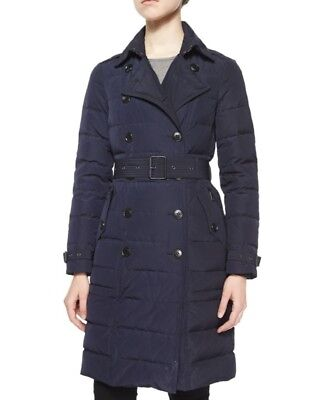 bdd1bd59b Burberry Brit coat Allerdale Mid-length Double Breasted Down Navy Parka