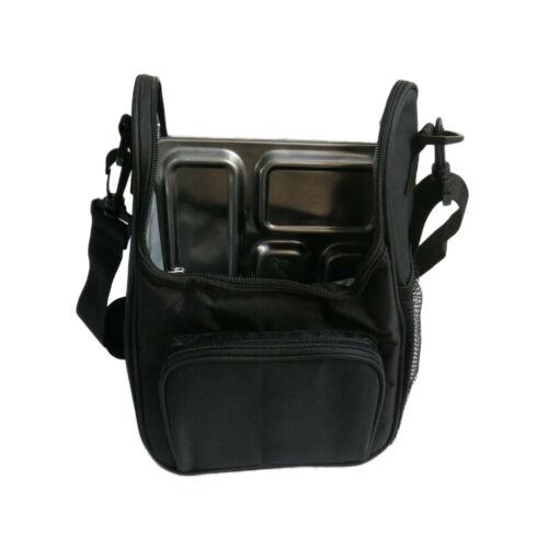 boy girl work adult Cooler warm hot Black lunch bag for Planet box strap school