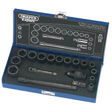 """Draper Expert 18 Piece 3/8"""" Sq Dr Hi-Torq Metric Impact Socket Set 54714"""