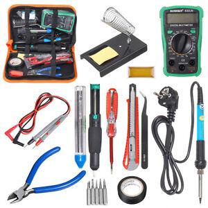 Professional-Electric-60W-Soldering-Iron-Multimeter-Adjustable-Temperature-Kit