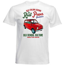 VINTAGE ITALIAN CAR FIAT 500 GIARDINIERA 1 - NEW COTTON T-SHIRT