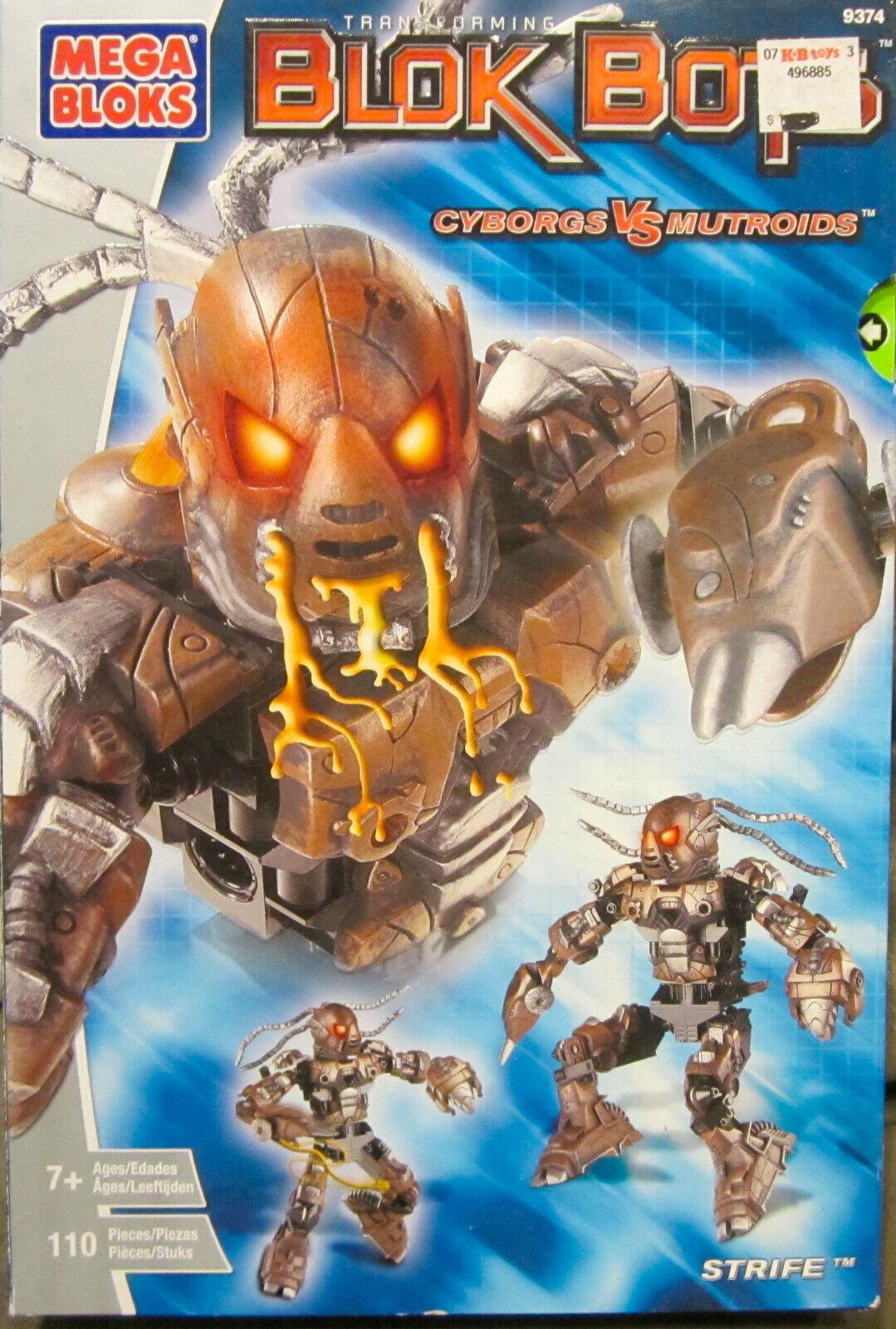 Mega Bloks Transforming Blok Bots Bots Bots Cyborgs Vs Mutroids - STRIFE - 110 Pieces -NEW 416067