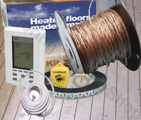 Radiant Floor Heating Cable / Spool 120 Volt Made In The Usa Complete Kit