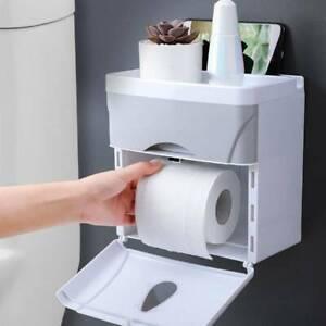 Toilet Roll Holders Waterproof Wall Mounted Storage Tissue Box Rack Dispenser UK