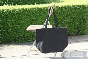 09342d55822 Details about 10 x Plain Black Natural Heavy Cotton Canvas Shopper Tote Bag  Plain 50*38*19