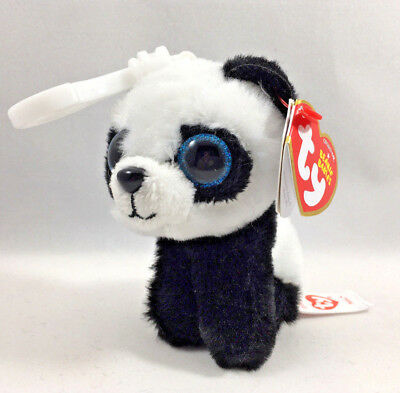 "Ty 6/"" Beanie Baby BABOO the Panda Stuffed Animal Plush w// MWMT/'s Heart Tags"
