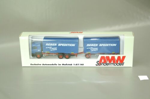 """AMW Man remolcarse camiones /""""Reber transportista/"""" 5518.02 1:87//h0 OVP nos awm"""